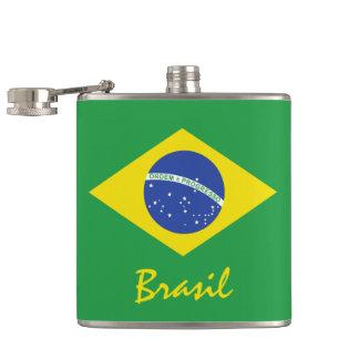Flag of Brazil Hip Flask
