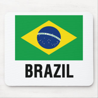 fLAG OF bRAZIL OUTLINE Mouse Pad