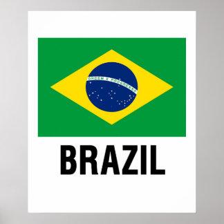 fLAG OF bRAZIL OUTLINE Poster