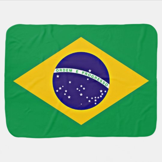 Flag of Brazil Receiving Blankets