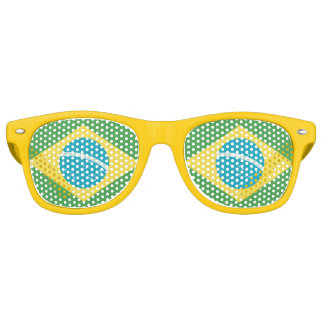 Flag of Brazil Retro Sunglasses