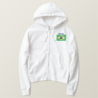 Flag of Brazil South American Brazilian Embroidered Hoodie