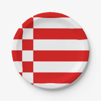 Flag of Bremen Paper Plate