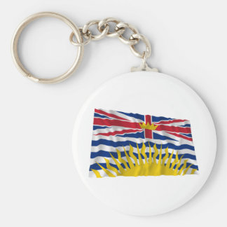 Flag of British Columbia, Canada Basic Round Button Keychain