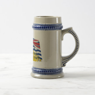 Flag of British Columbia, Canada Beer Stein