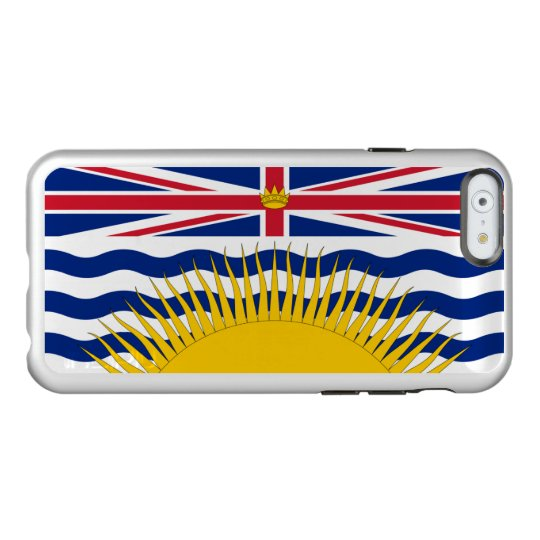 Flag of British Columbia Silver iPhone Case