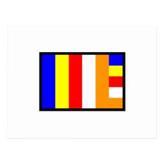 FLAG OF BUDDHISM POSTCARD