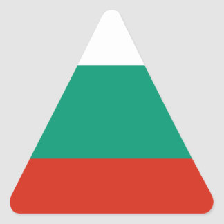 Flag of Bulgaria Bulgarian Flag знаме на България Triangle Sticker