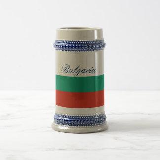 Flag of Bulgaria or Bulgarian Beer Stein