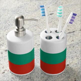 Flag of Bulgaria or Bulgarian Soap Dispenser And Toothbrush Holder