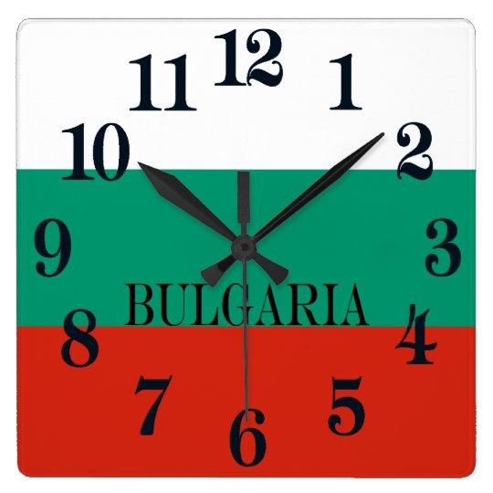Flag of Bulgaria or Bulgarian Square Wall Clock