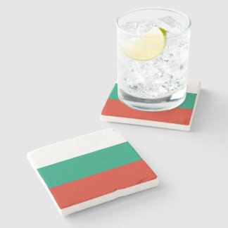 Flag of Bulgaria or Bulgarian Stone Coaster