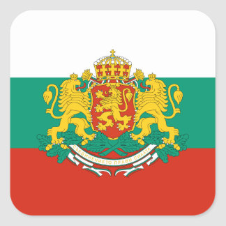 Flag of Bulgaria Tricolour White Green Red Square Sticker