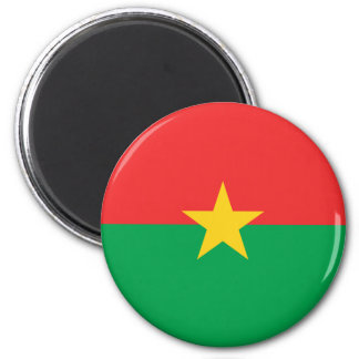 Flag of Burkina Faso - Drapeau du Burkina Faso 2 Inch Round Magnet