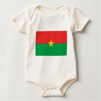 Flag of Burkina Faso - Drapeau du Burkina Faso Baby Bodysuit