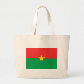 Flag of Burkina Faso - Drapeau du Burkina Faso Large Tote Bag