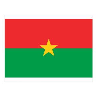 Flag of Burkina Faso - Drapeau du Burkina Faso Postcard