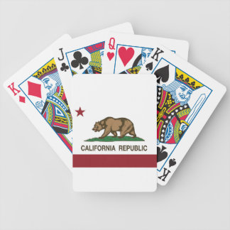 Flag Of California Bicycle Playing Cards