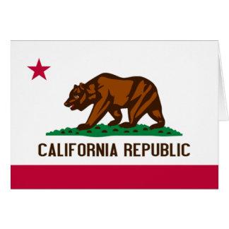 Flag of California Card