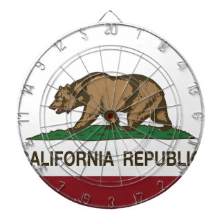 Flag Of California Dartboard