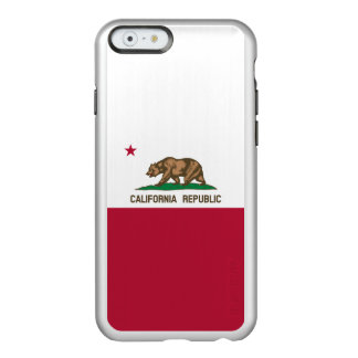 Flag of California Silver iPhone Case