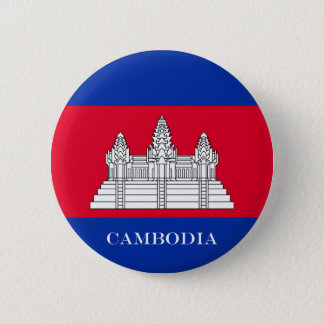 Flag of Cambodia 2 Inch Round Button