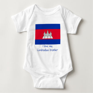 Flag of Cambodia Baby Bodysuit
