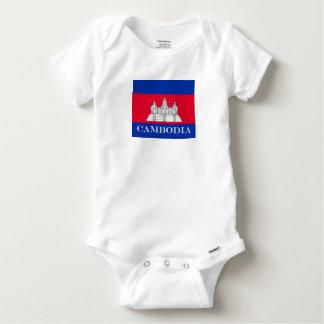 Flag of Cambodia Baby Onesie