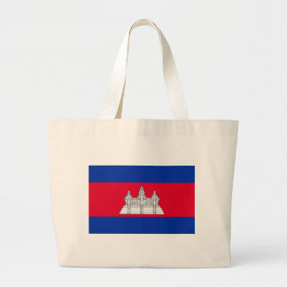 Flag of Cambodia - Cambodian Flag Large Tote Bag