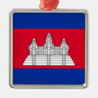 Flag of Cambodia - Cambodian Flag Metal Ornament