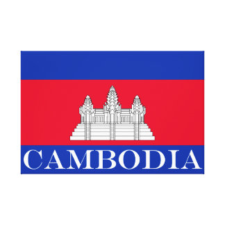 Flag of Cambodia Canvas Print