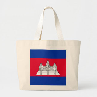 Flag of Cambodia Large Tote Bag