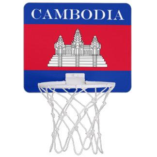 Flag of Cambodia Mini Basketball Hoop
