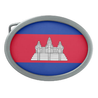 Flag of Cambodia Oval Belt Buckle