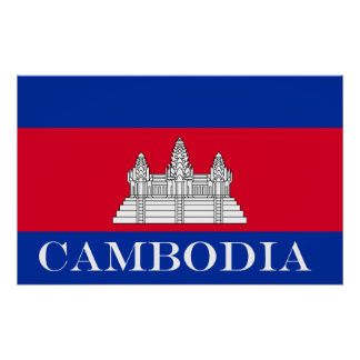 Flag of Cambodia Poster