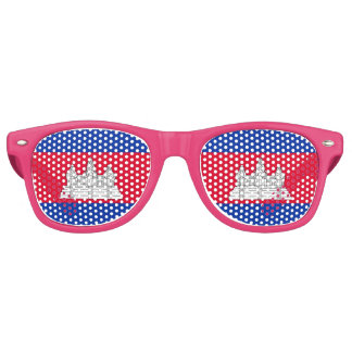 Flag of Cambodia Retro Sunglasses
