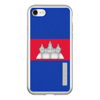 Flag of Cambodia Silver iPhone Case