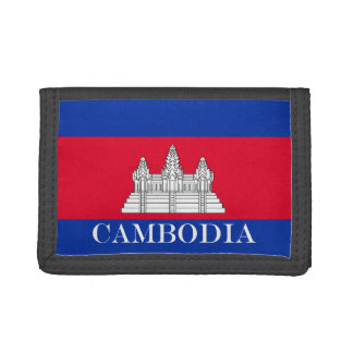 Flag of Cambodia Tri-fold Wallet