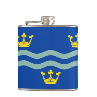 Flag of Cambridgeshire Hip Flask