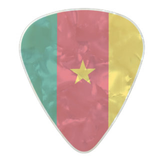 Flag of Cameroon Guitar Picks Pearl Celluloid Guitar Pick