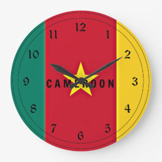 Flag of Cameroon Large Clock