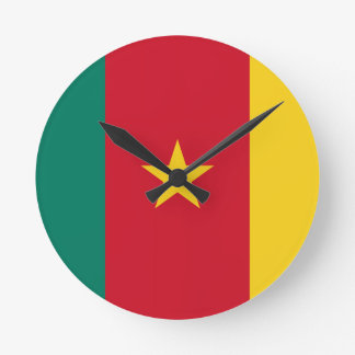 Flag of Cameroon Round Clock