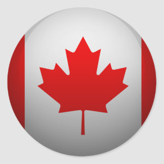 Flag of Canada Classic Round Sticker