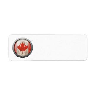 Flag of Canada Disc Return Address Labels