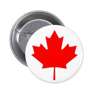 Flag of Canada - Drapeau du Canada 2 Inch Round Button