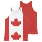 Flag of Canada - Drapeau du Canada All-Over-Print Tank Top