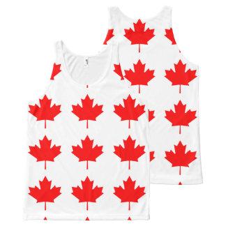 Flag of Canada, Drapeau du Canada All-Over-Print Tank Top