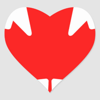 Flag of Canada - Drapeau du Canada Heart Sticker