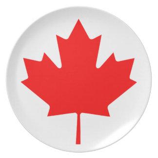 Flag of Canada - Drapeau du Canada Plate