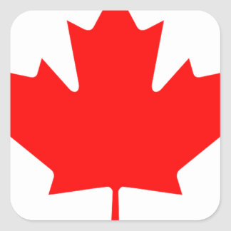 Flag of Canada - Drapeau du Canada Square Sticker